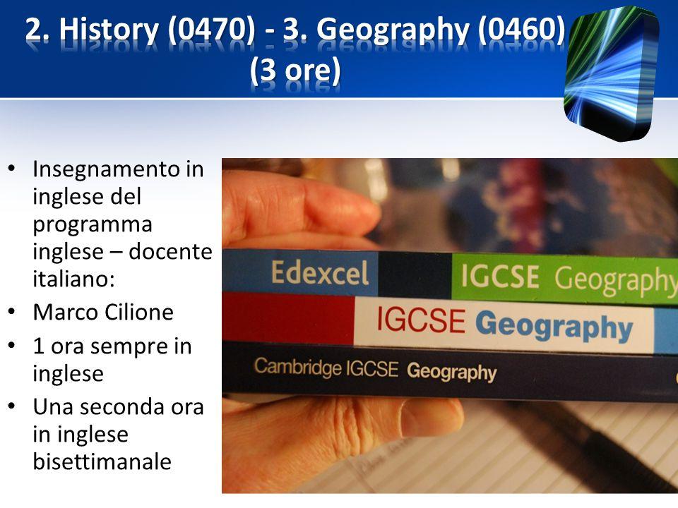 Insegnamento in inglese del programma inglese – docente italiano: Marco Cilione 1 ora sempre in inglese Una seconda ora in inglese bisettimanale