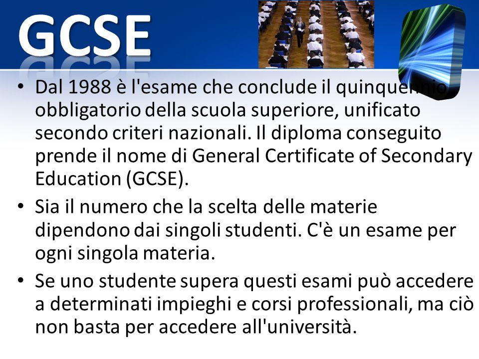 Dal 1988 è l'esame che conclude il quinquennio obbligatorio della scuola superiore, unificato secondo criteri nazionali. Il diploma conseguito prende