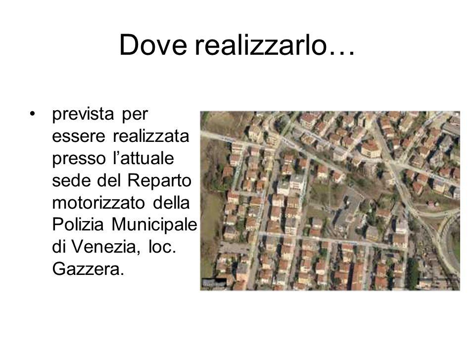 Dove realizzarlo… prevista per essere realizzata presso l'attuale sede del Reparto motorizzato della Polizia Municipale di Venezia, loc.