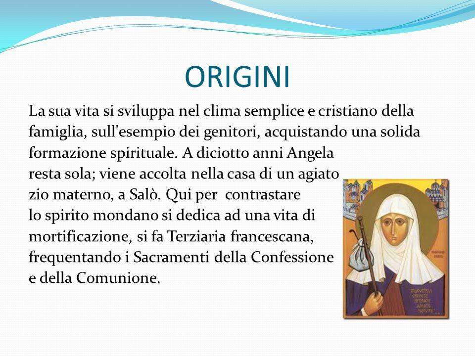 ORIGINI La sua vita si sviluppa nel clima semplice e cristiano della famiglia, sull'esempio dei genitori, acquistando una solida formazione spirituale