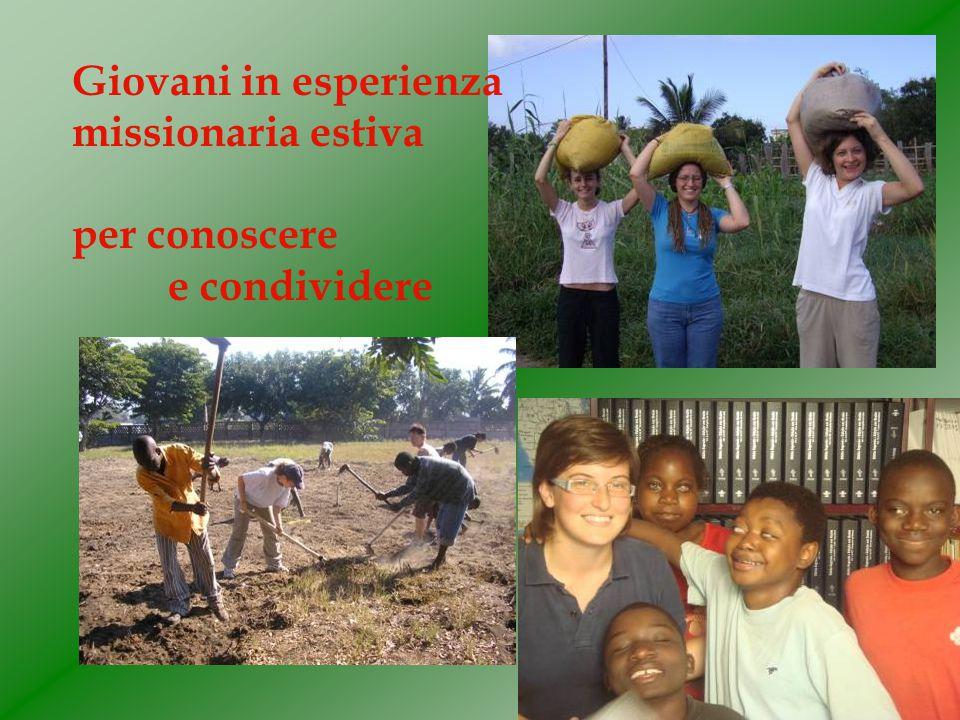 Giovani in esperienza missionaria estiva per conoscere e condividere