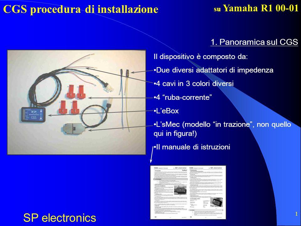 CGS procedura di installazione SP electronics su Yamaha R1 00-01 2 MOLTO IMPORTANTE Questo file non sostituisce il manuale di istruzioni.