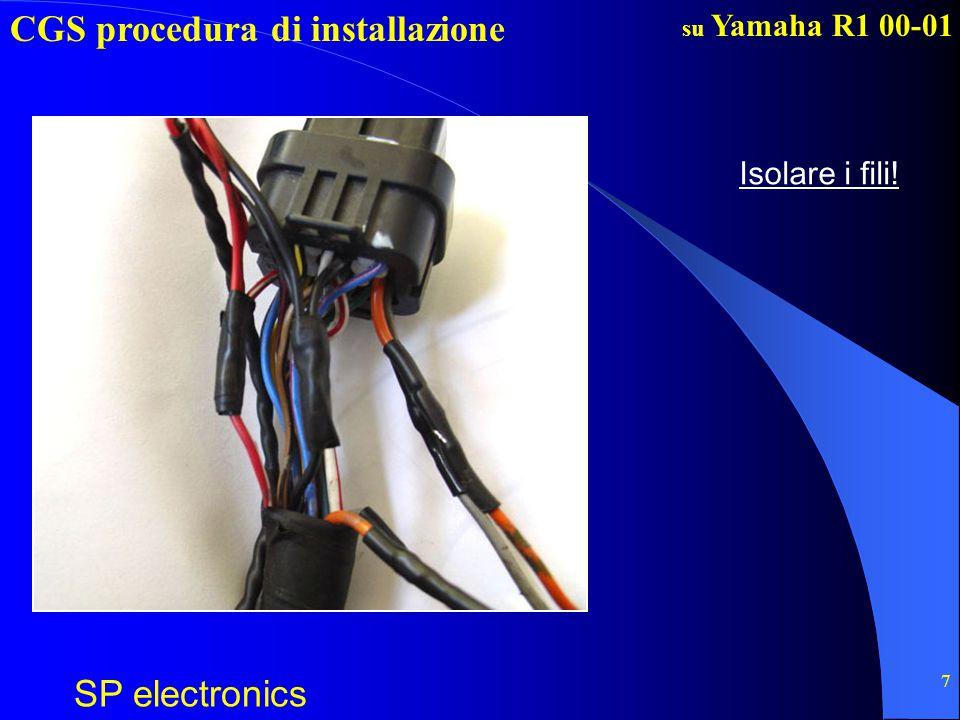 CGS procedura di installazione SP electronics su Yamaha R1 00-01 8 6.