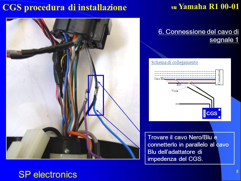 CGS procedura di installazione SP electronics su Yamaha R1 00-01 9 7.