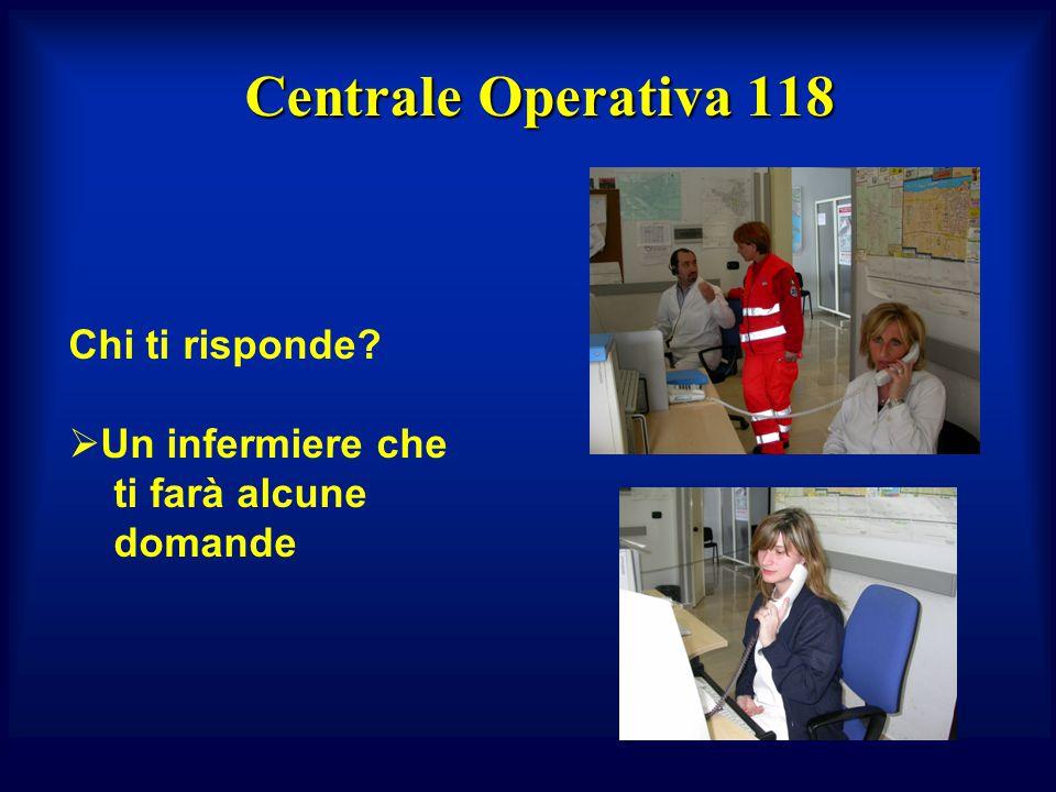 Centrale Operativa 118 Chi ti risponde?  Un infermiere che ti farà alcune domande