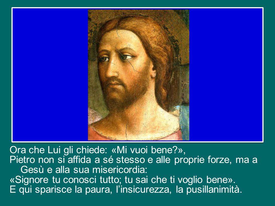 E nello stesso tempo lui, Simone, confessò per tre volte il suo amore per Gesù, riparando così al triplice rinnegamento avvenuto durante la passione.