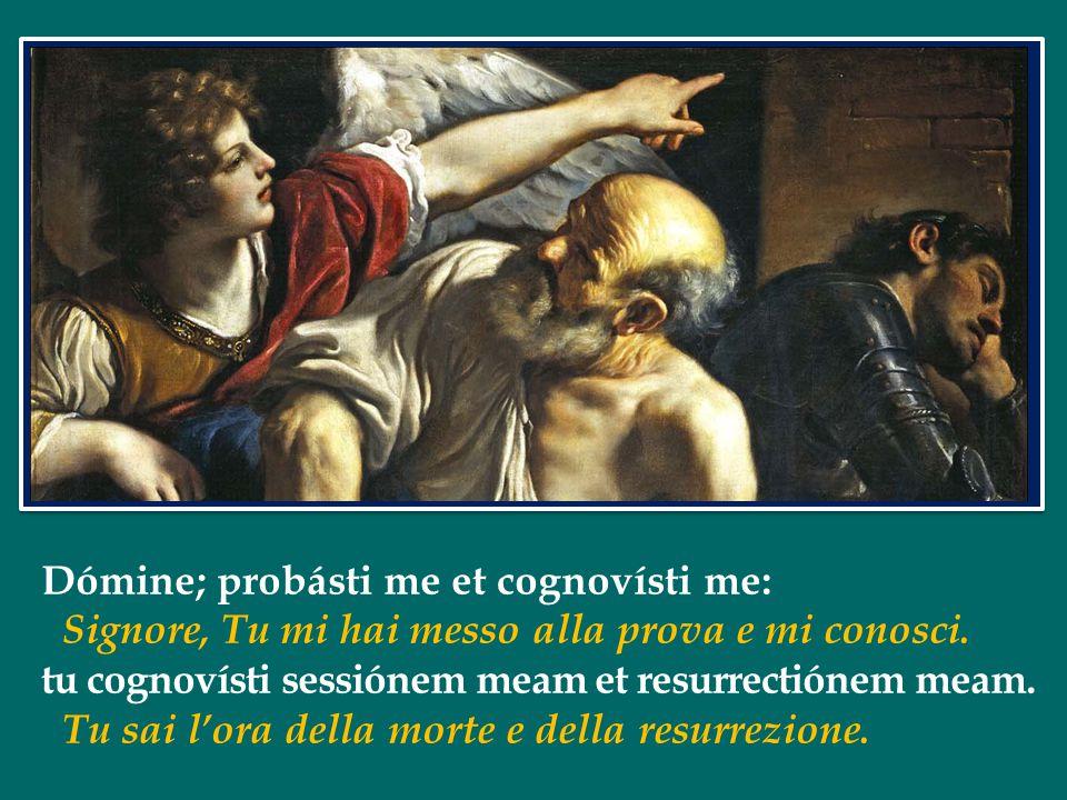 Dómine; probásti me et cognovísti me: Signore, Tu mi hai messo alla prova e mi conosci.