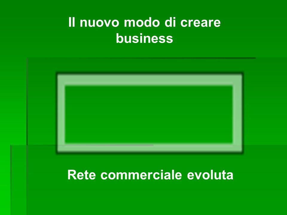 Il nuovo modo di creare business Rete commerciale evoluta