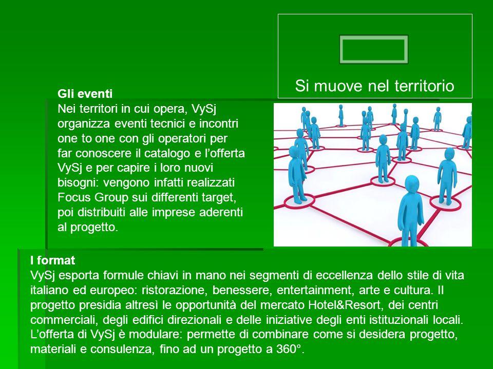 Gli eventi Nei territori in cui opera, VySj organizza eventi tecnici e incontri one to one con gli operatori per far conoscere il catalogo e l'offerta