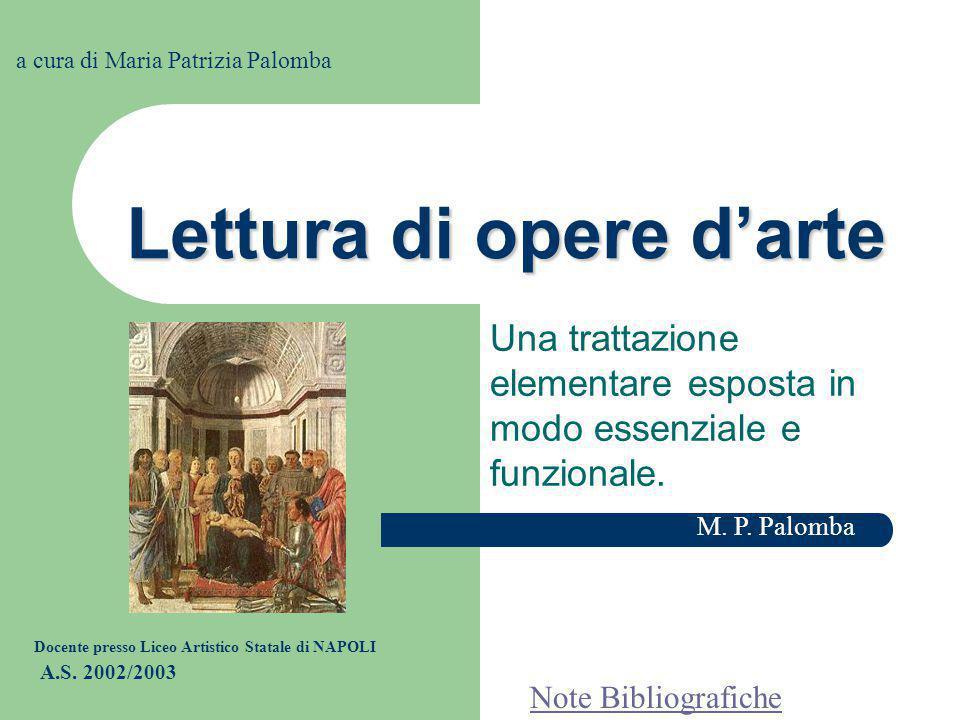 Lettura di opere d'arte Una trattazione elementare esposta in modo essenziale e funzionale.
