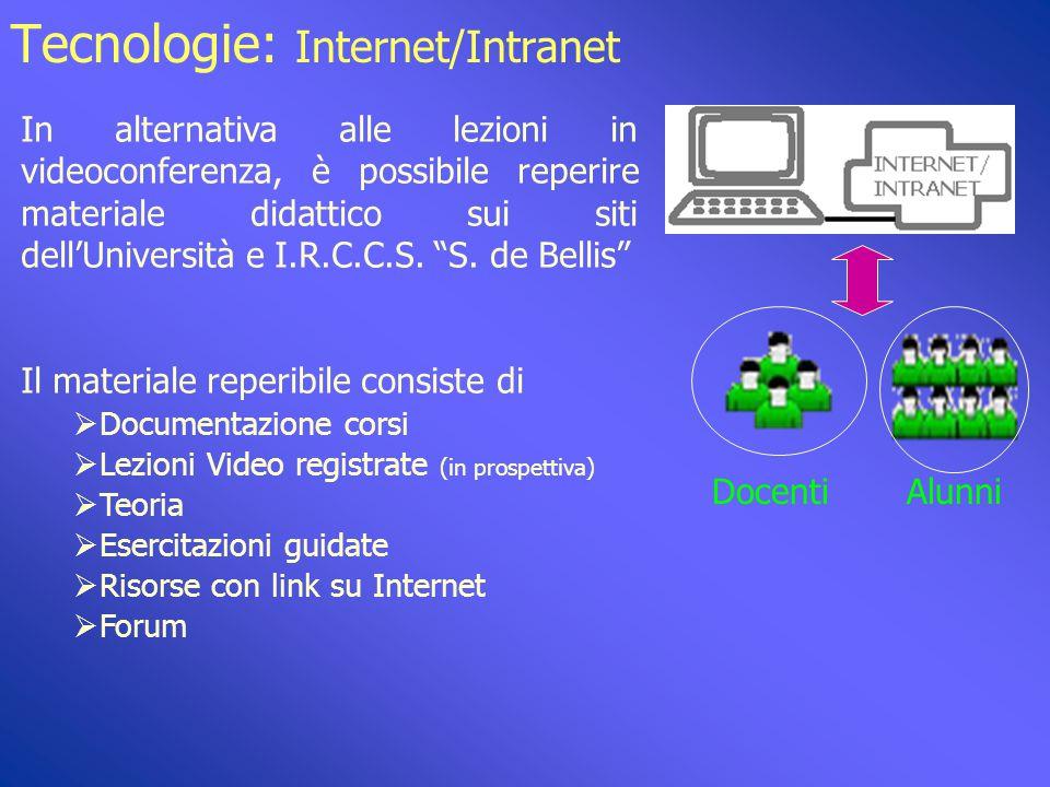 """Tecnologie: Multiconferenza IRCCS """"S. de Bellis"""" Castellana Grotte Alunni IRCCS Docenti IRCCS Altra sede (Albania) Alunni"""