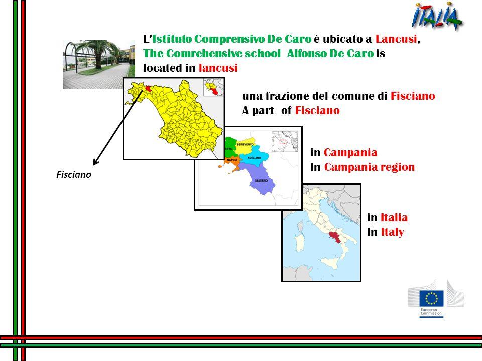 L'Istituto Comprensivo De Caro è ubicato a Lancusi, The Comrehensive school Alfonso De Caro is located in lancusi una frazione del comune di Fisciano A part of Fisciano in Campania In Campania region in Italia In Italy Fisciano