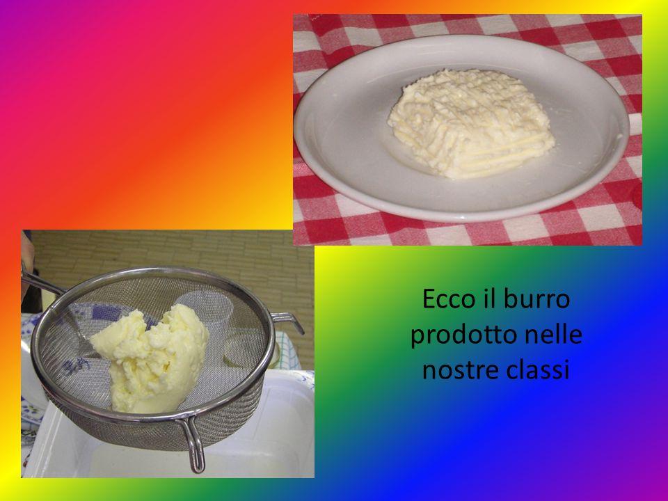 Ecco il burro prodotto nelle nostre classi
