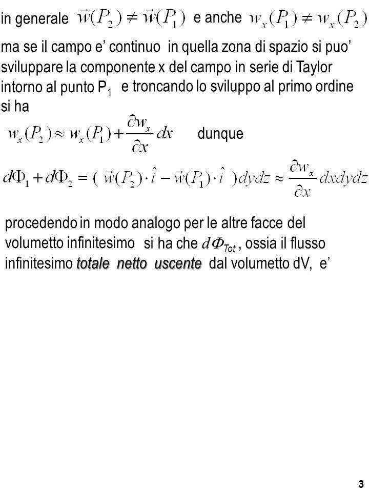 3 sviluppare la componente x del campo in serie di Taylor intorno al punto P 1 ma se il campo e' continuo in quella zona di spazio si puo' e troncando