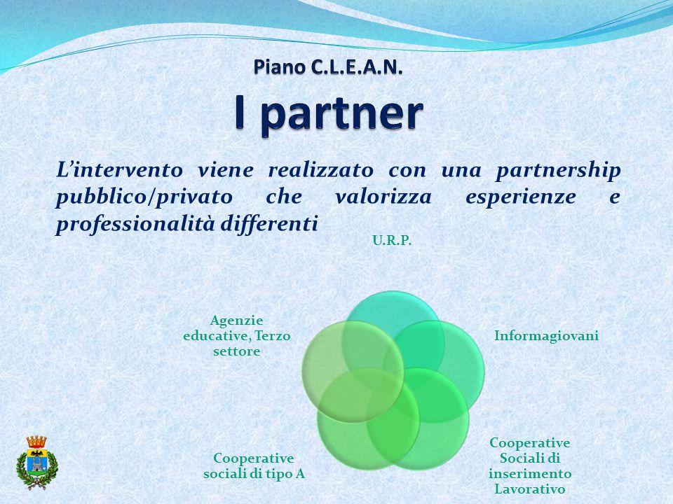 L'intervento viene realizzato con una partnership pubblico/privato che valorizza esperienze e professionalità differenti U.R.P.