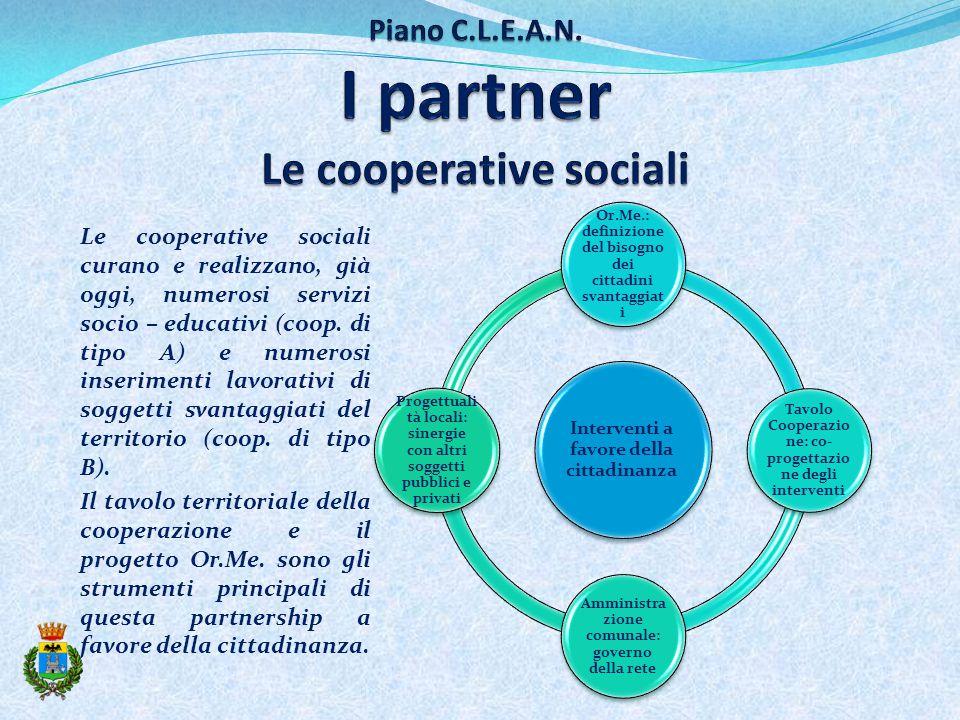Le cooperative sociali curano e realizzano, già oggi, numerosi servizi socio – educativi (coop.