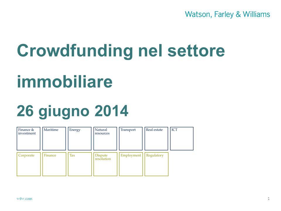 wfw.com Crowdfunding nel settore immobiliare 26 giugno 2014 1