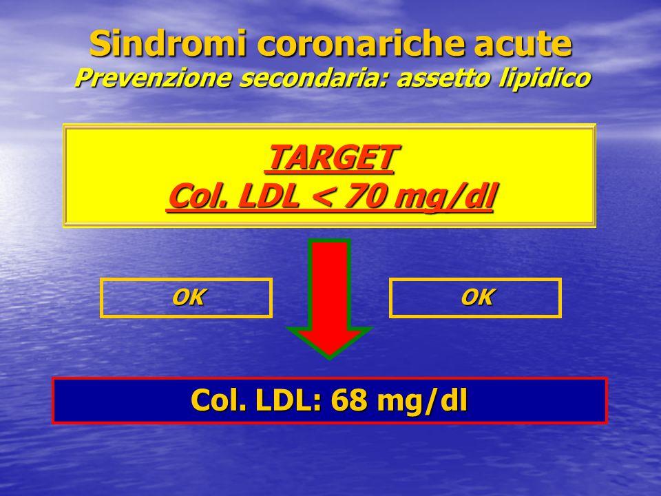 Sindromi coronariche acute Prevenzione secondaria: assetto lipidico TARGET Col.