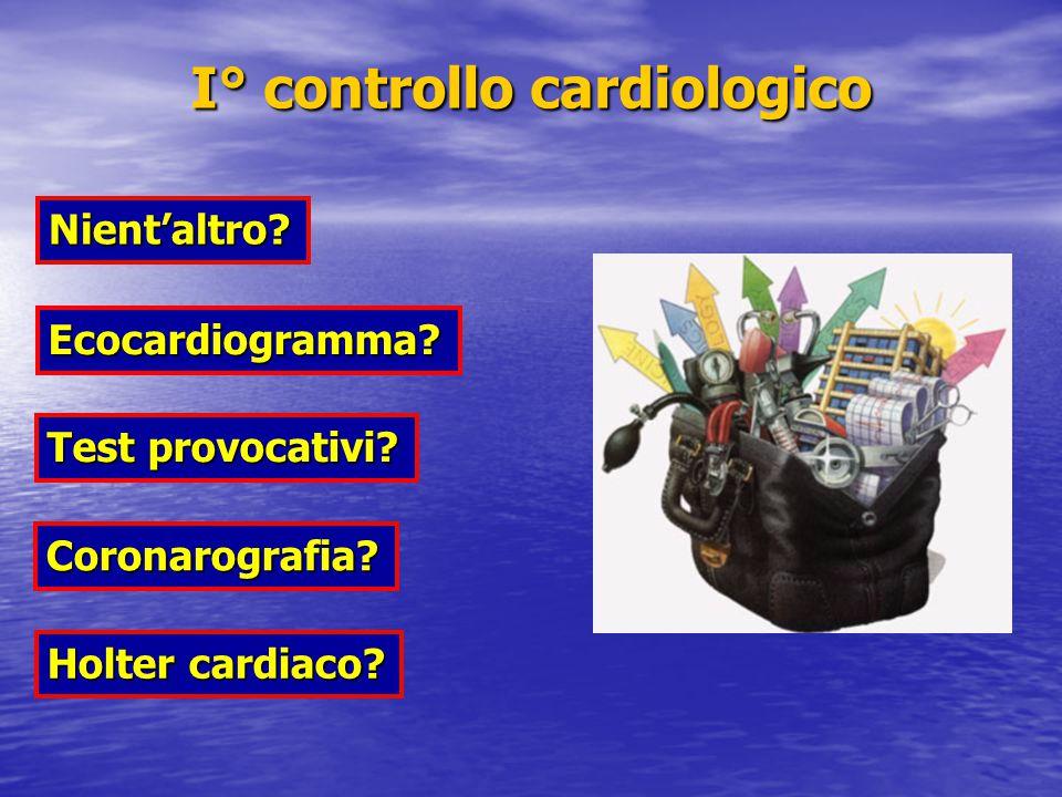 Nient'altro.Ecocardiogramma. Test provocativi. Coronarografia.