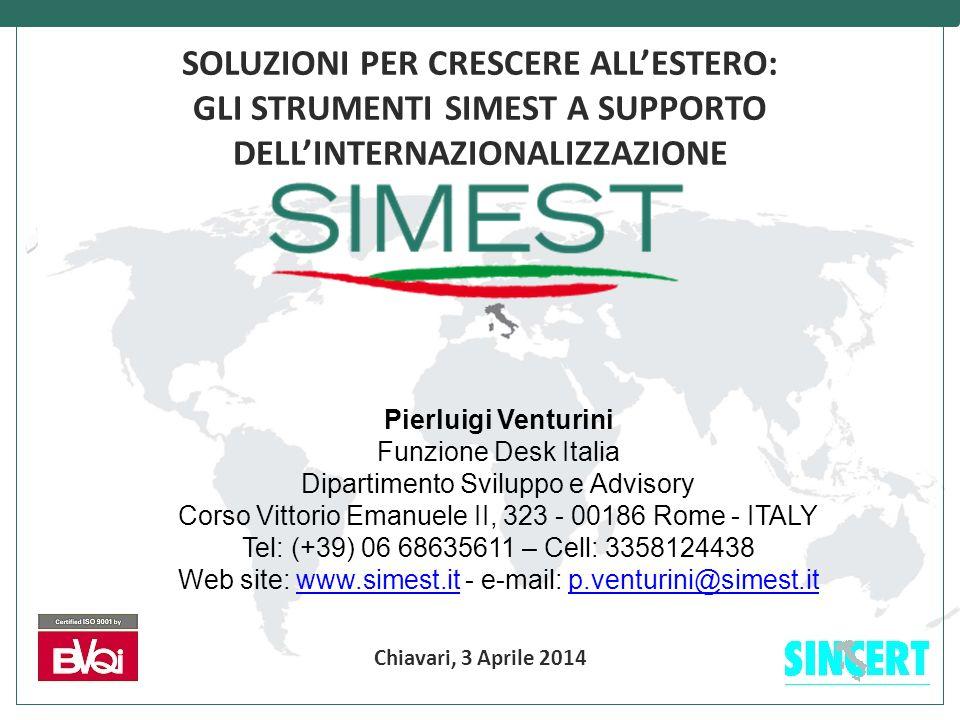 MISSIONE SIMEST promuove l'internazionalizzazione delle imprese italiane mediante: Individuazione investimenti ed assistenza economico - finanziaria Gestione degli strumenti pubblici per l'internazionalizzazione Partecipazione al capitale delle società 2