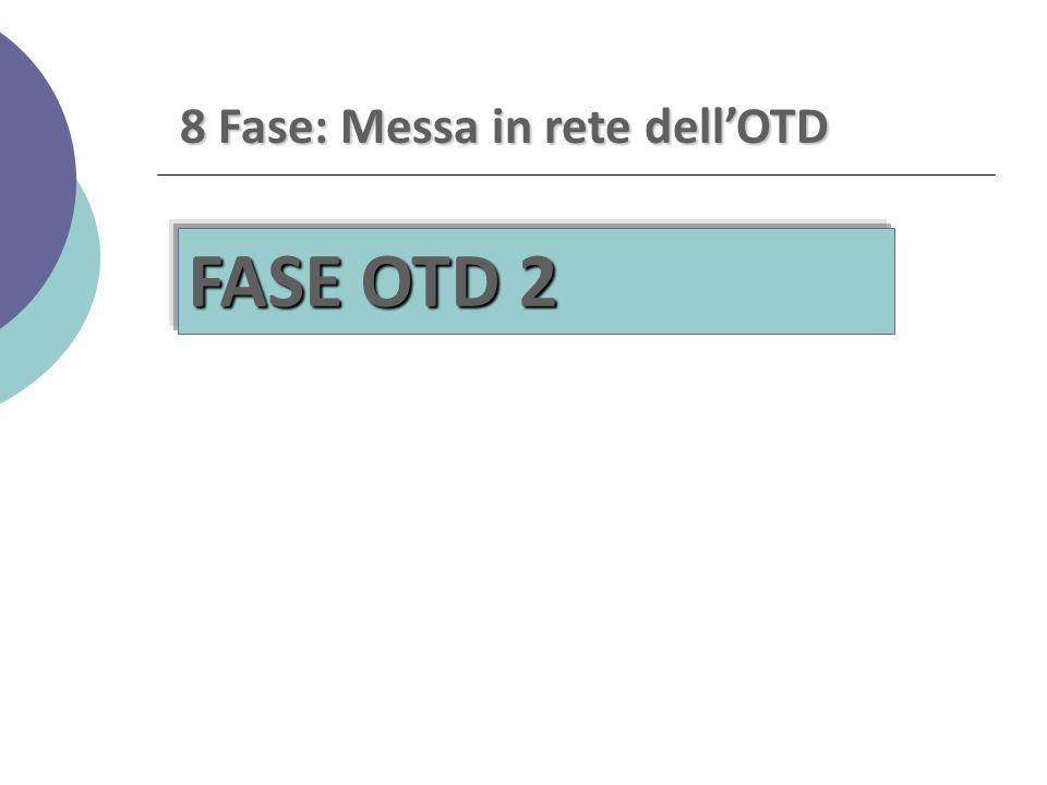 8 Fase: Messa in rete dell'OTD FASE OTD 2