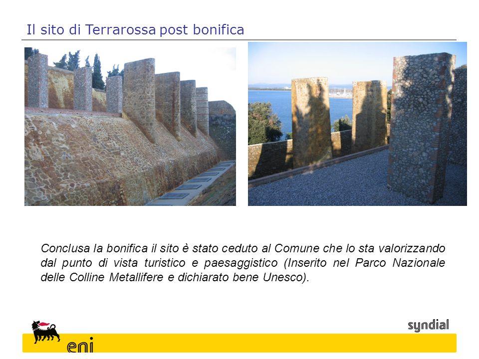 Conclusa la bonifica il sito è stato ceduto al Comune che lo sta valorizzando dal punto di vista turistico e paesaggistico (Inserito nel Parco Naziona