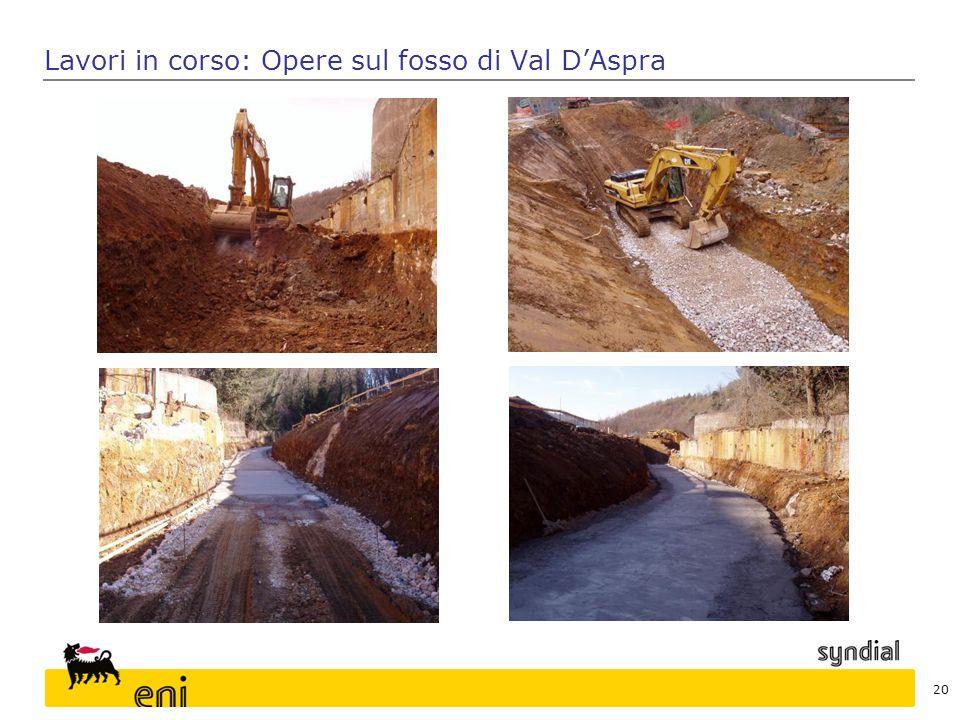 Lavori in corso: Opere sul fosso di Val D'Aspra 20