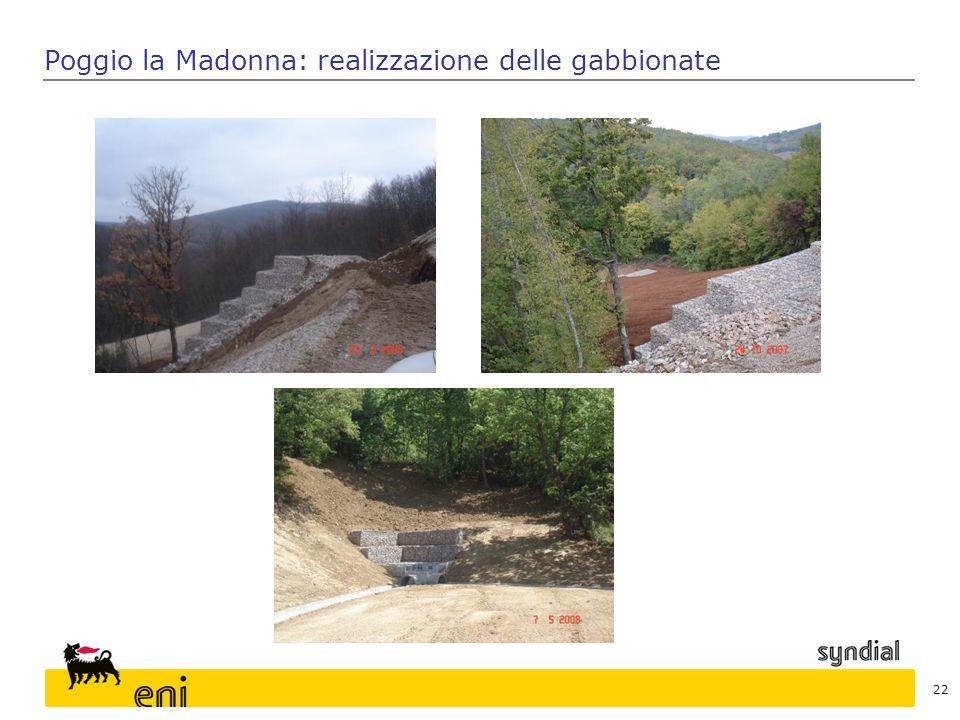 Poggio la Madonna: realizzazione delle gabbionate 22