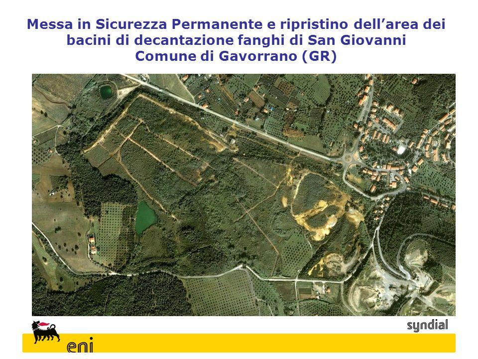 Messa in Sicurezza Permanente e ripristino dell'area dei bacini di decantazione fanghi di San Giovanni Comune di Gavorrano (GR)