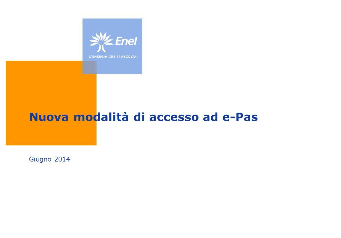 Nuova modalità di accesso ad e-Pas Giugno 2014