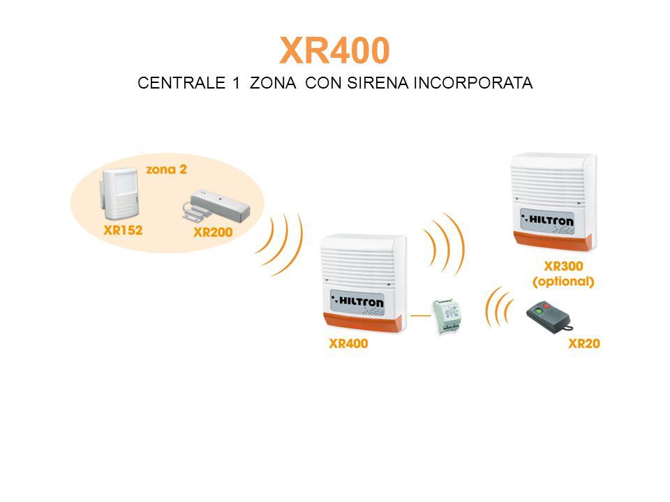 XR400 CENTRALE 1 ZONA CON SIRENA INCORPORATA