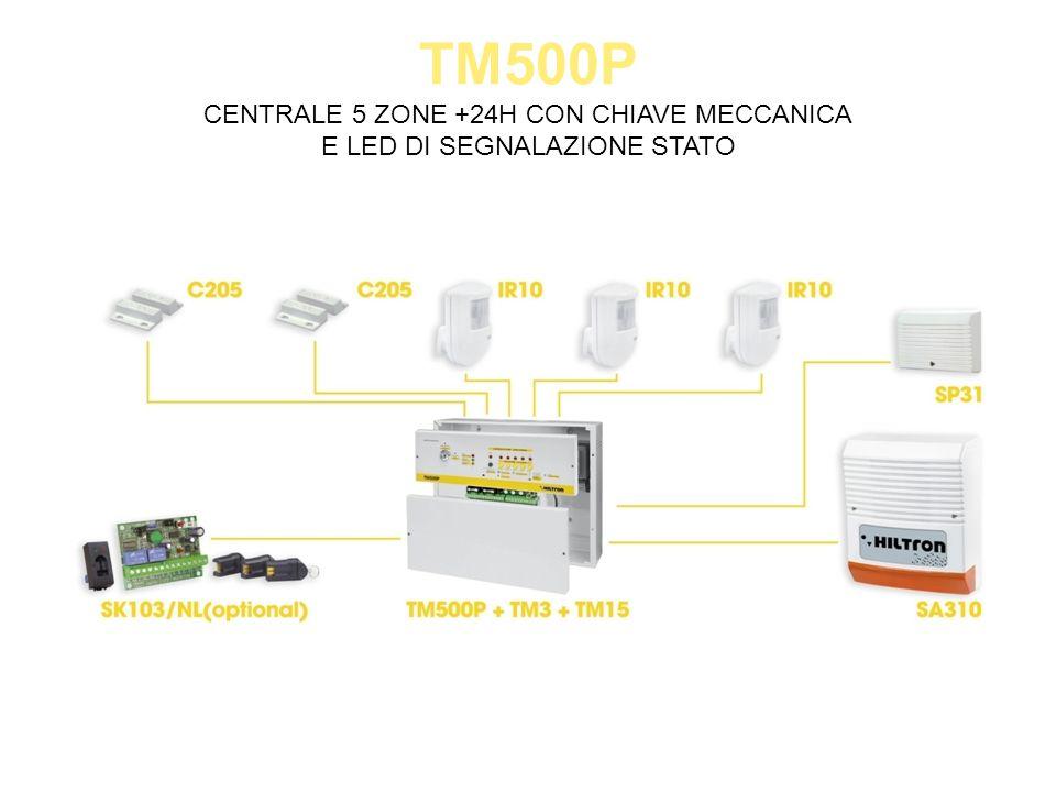 TM600GSM CENTRALE 6 ZONE NC/BILANCIATE CON COMBINATORE GSM INTEGRATO + IR INCORPORATO