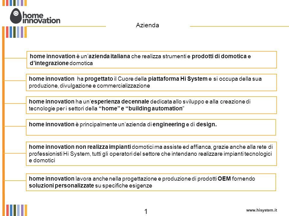 home innovation è un'azienda italiana che realizza strumenti e prodotti di domotica e d'integrazione domotica home innovation ha un'esperienza decenna