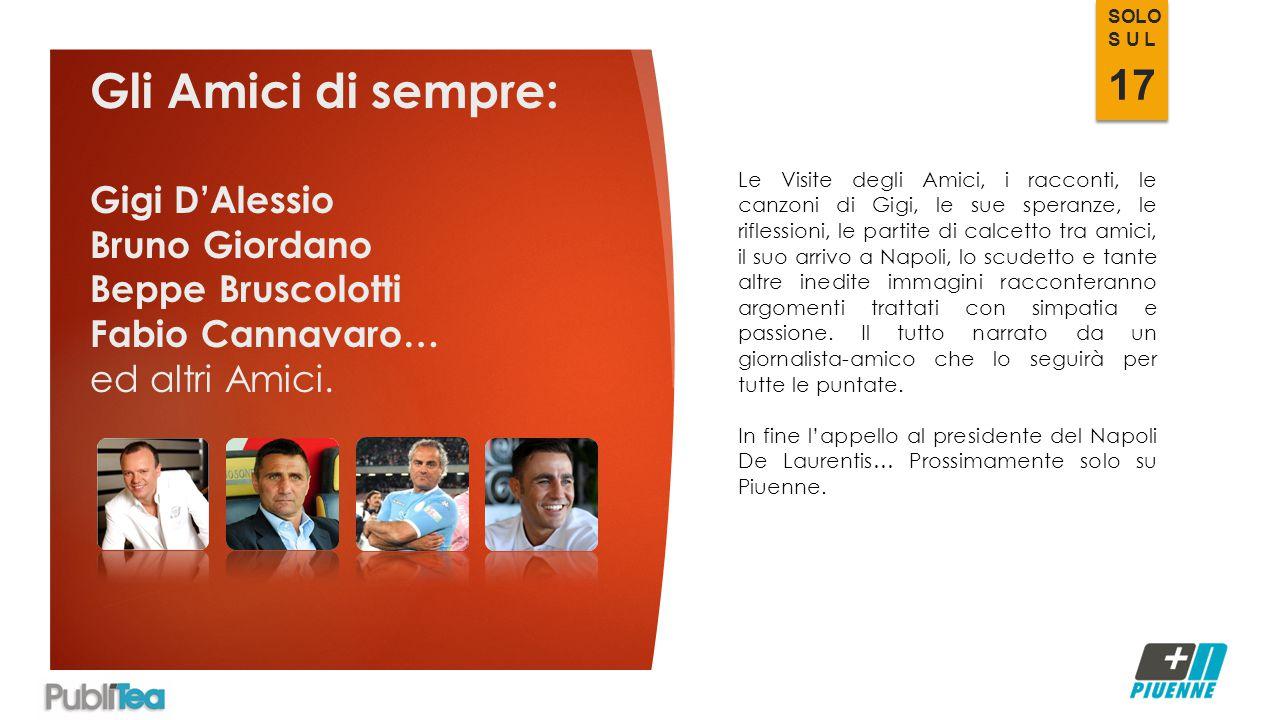 Gli Amici di sempre: Gigi D'Alessio Bruno Giordano Beppe Bruscolotti Fabio Cannavaro… ed altri Amici.