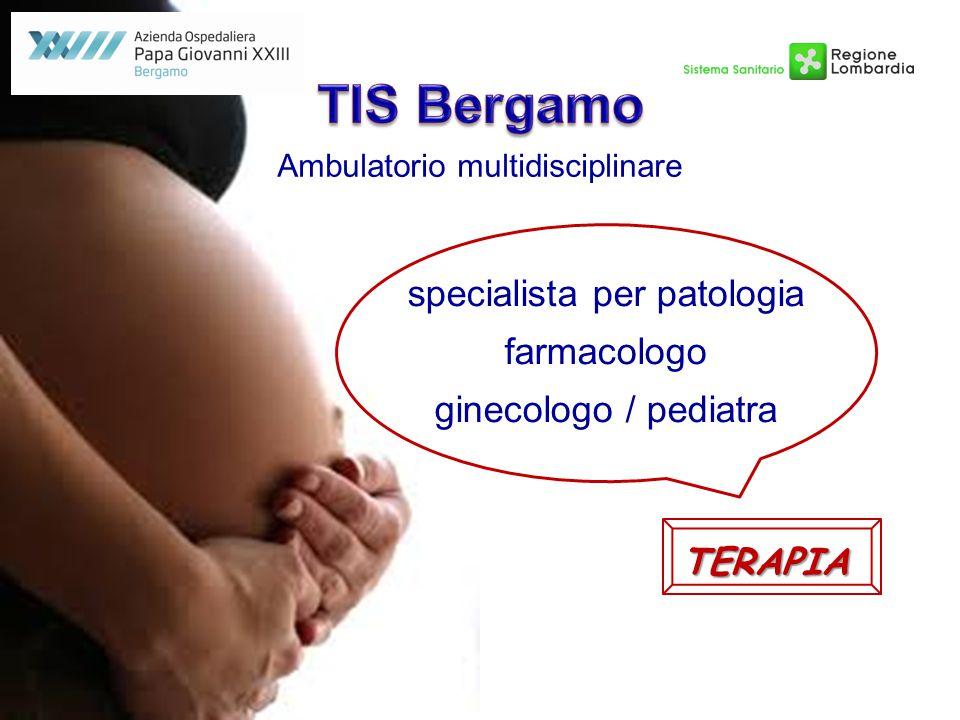 Ambulatorio multidisciplinare specialista per patologia farmacologo ginecologo / pediatra TERAPIA