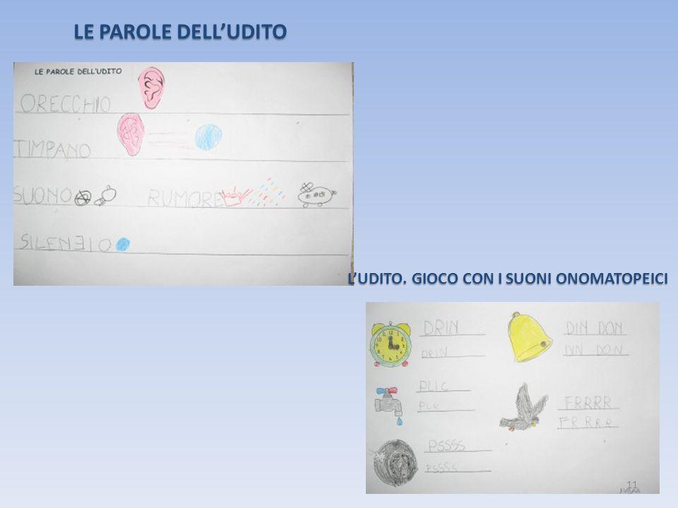 LE PAROLE DELL'UDITO L'UDITO. GIOCO CON I SUONI ONOMATOPEICI 11