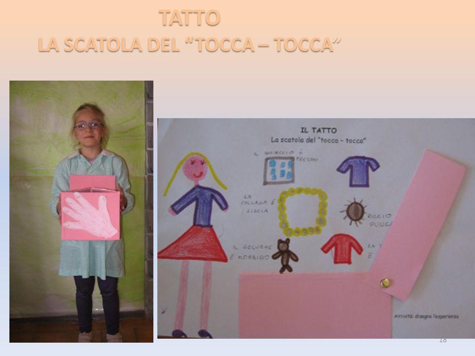 """TATTO LA SCATOLA DEL """"TOCCA – TOCCA"""" 18"""