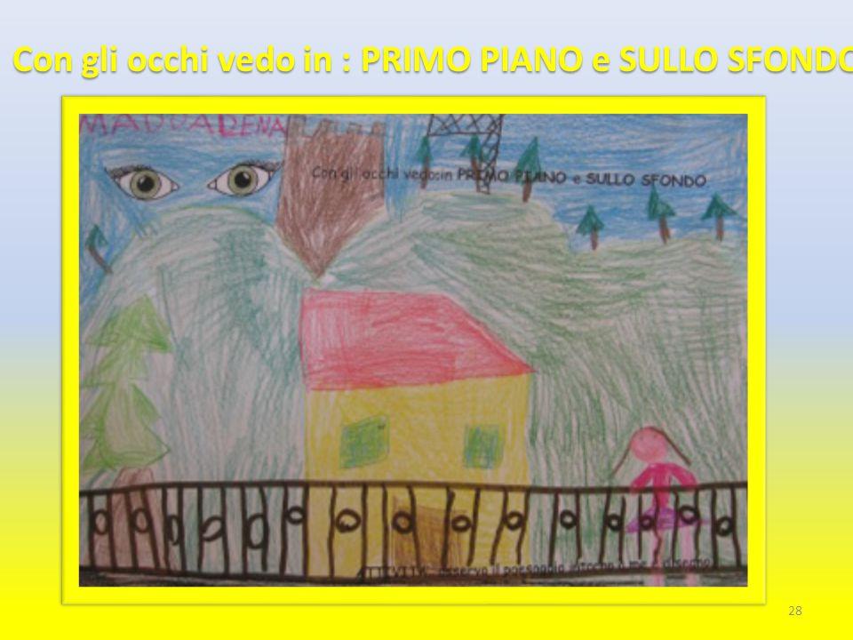 Con gli occhi vedo in : PRIMO PIANO e SULLO SFONDO 28