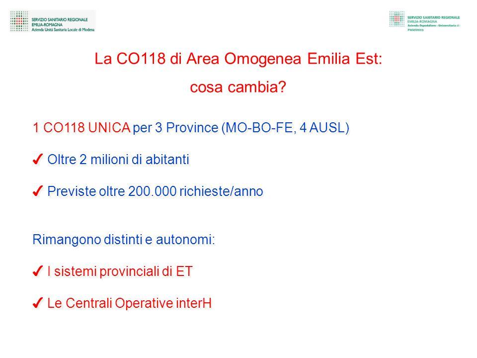La CO118 di Area Omogenea Emilia Est: cosa cambia.