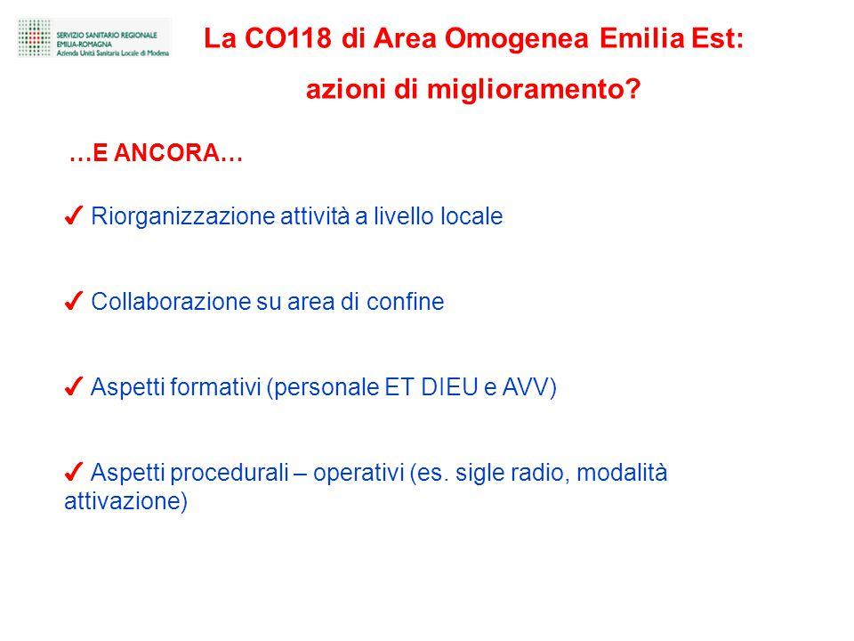 ✔ Riorganizzazione attività a livello locale ✔ Collaborazione su area di confine ✔ Aspetti formativi (personale ET DIEU e AVV) ✔ Aspetti procedurali – operativi (es.