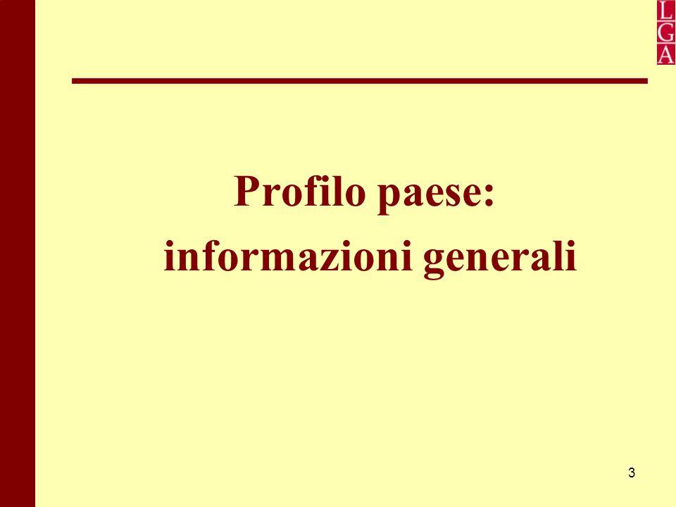 3 Profilo paese: informazioni generali