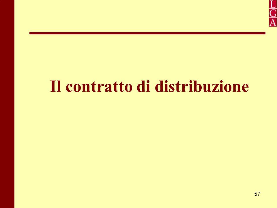 57 Il contratto di distribuzione