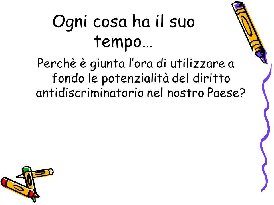 CONCETTO DI DISCRIMINAZIONE 1.