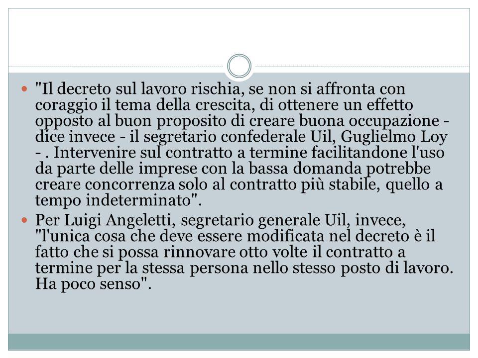 I commenti Reazioni - Il decreto è bocciato dall'ex viceministro all'Economia, Stefano Fassina, che già si era espresso contro: