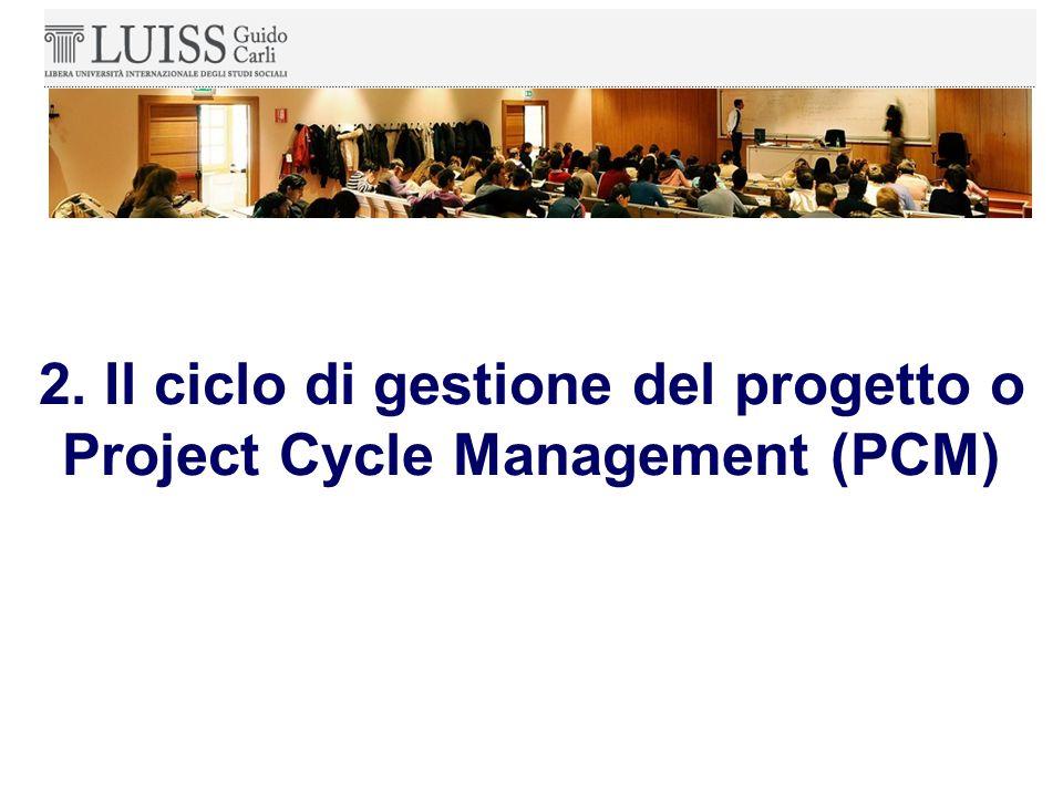 Il principale strumento di progettazione e gestione nel contesto del PCM è l'Approccio del Quadro Logico (AQL).