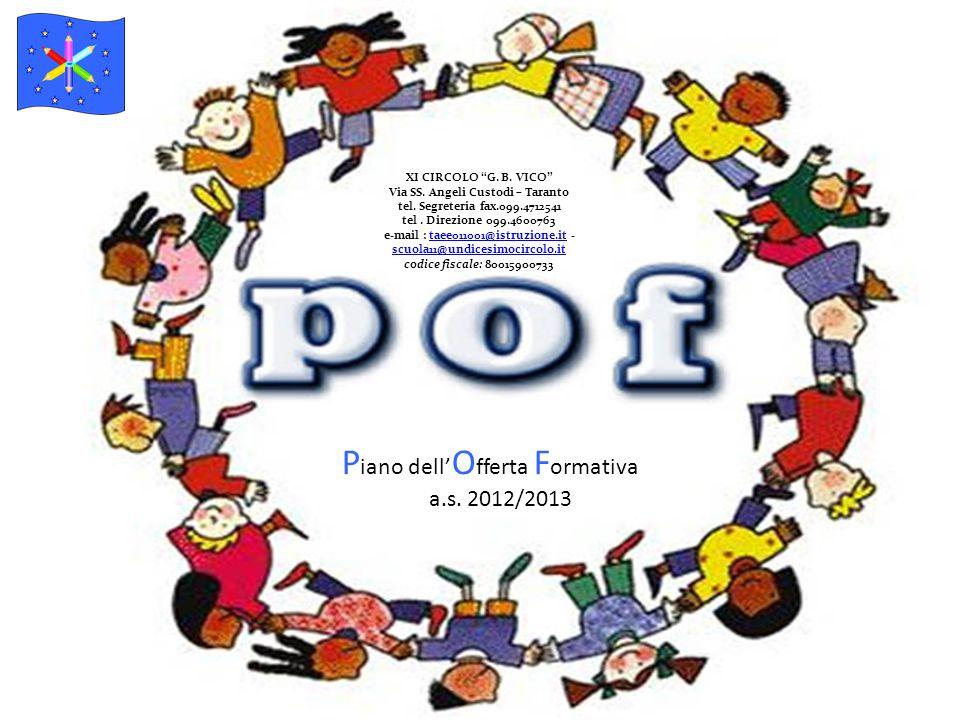 P iano dell' O fferta F ormativa a.s. 2012/2013 XI CIRCOLO G.
