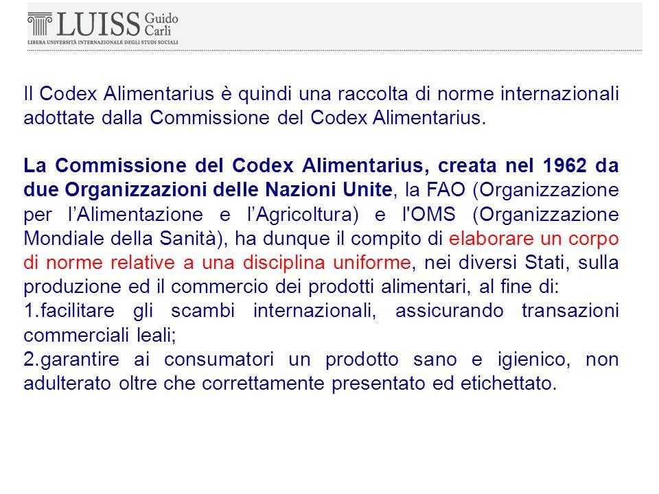 Il Codex Alimentarius è quindi una raccolta di norme internazionali adottate dalla Commissione del Codex Alimentarius.