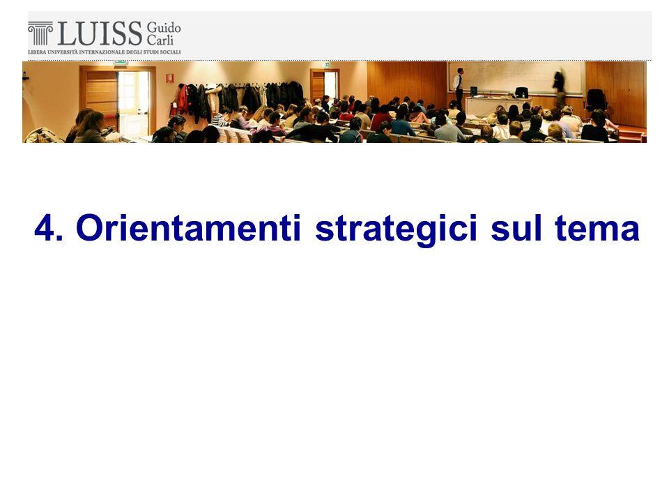 4. Orientamenti strategici sul tema