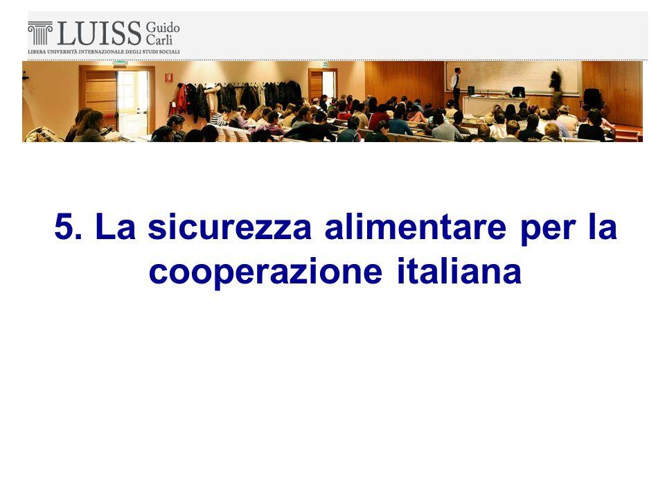 5. La sicurezza alimentare per la cooperazione italiana