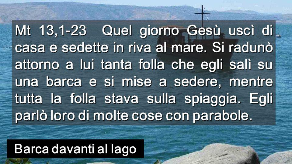 Davanti al lago di Galilea, apriamoci alla PAROLA che Dio semina nel nostro cuore